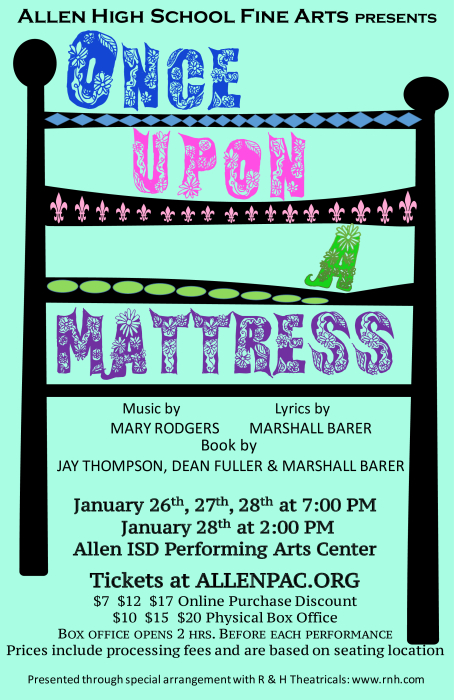 Once Upon a Mattress Flyer
