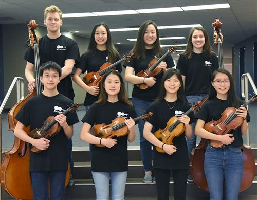 A group photo of the All-State Orchestra Musicians