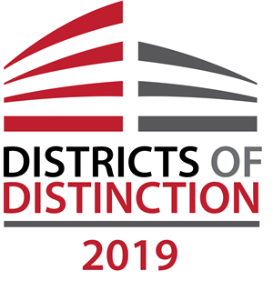 The 2019 logo for the Districts of Distinction award
