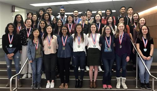 A group photo of the 33 Allen High School students who were named National Merit Finalists.