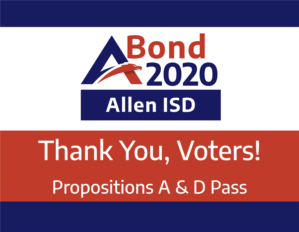 Allen ISD Community Approves Propositions A & D