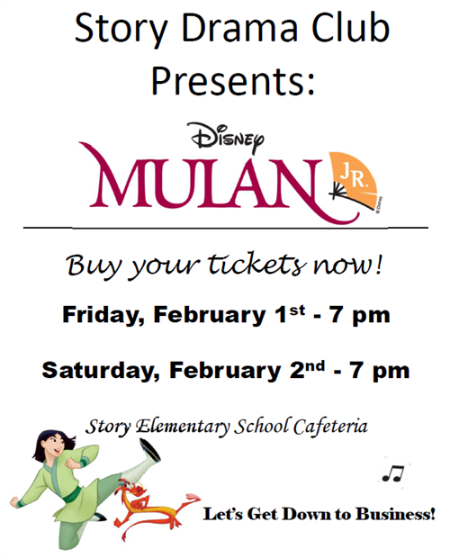 Buy your tickets now!  Friday, February 1 & Saturday, February 2, 7:00 pm