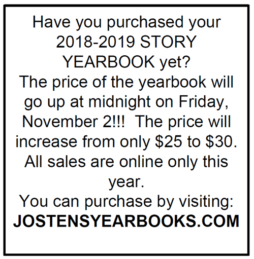 Information about how to buy yearbook online.