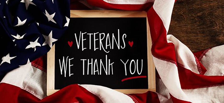 Veterans, we thank you!