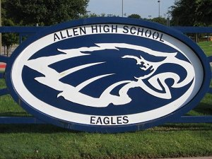 Photo of AHS front driveway gate