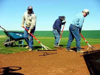 Allen ISD employees maintain athletic grounds