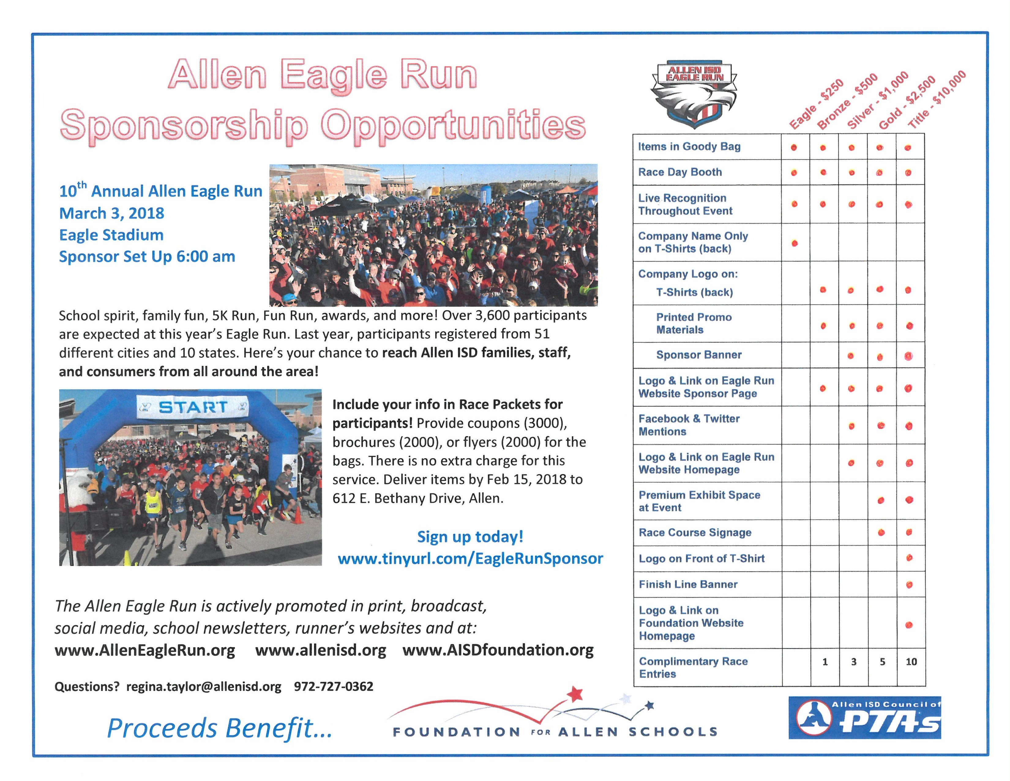 Eagle Run Sponsor Flyer