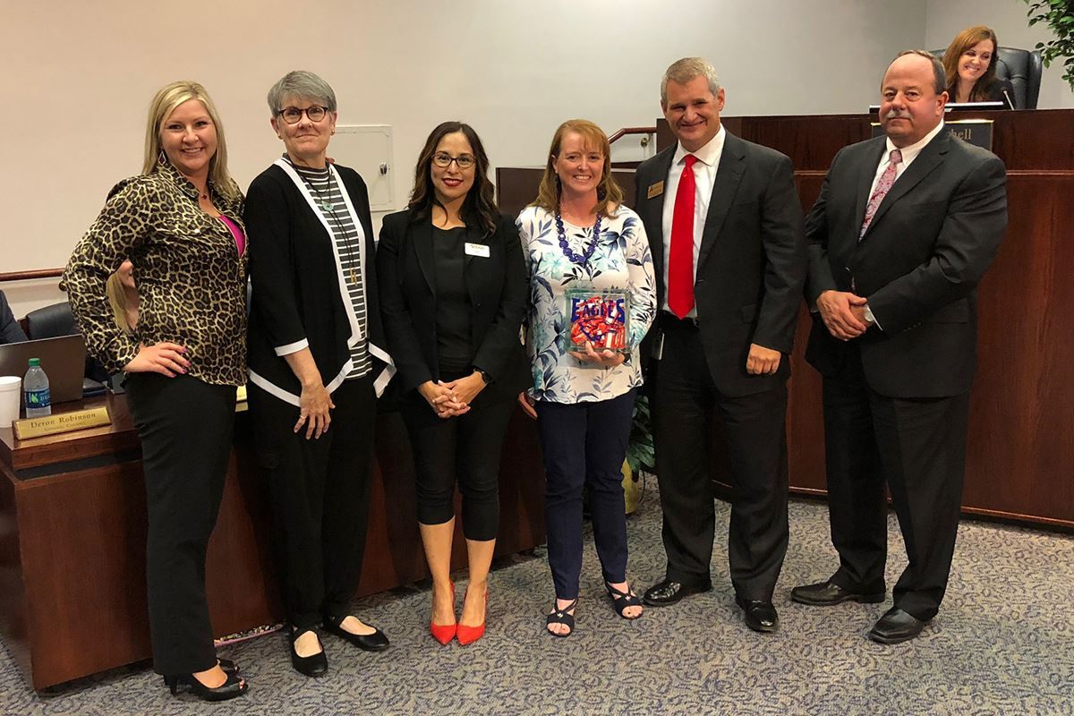 Board honors Cheatham Teacher of the Month Carin Engelbert