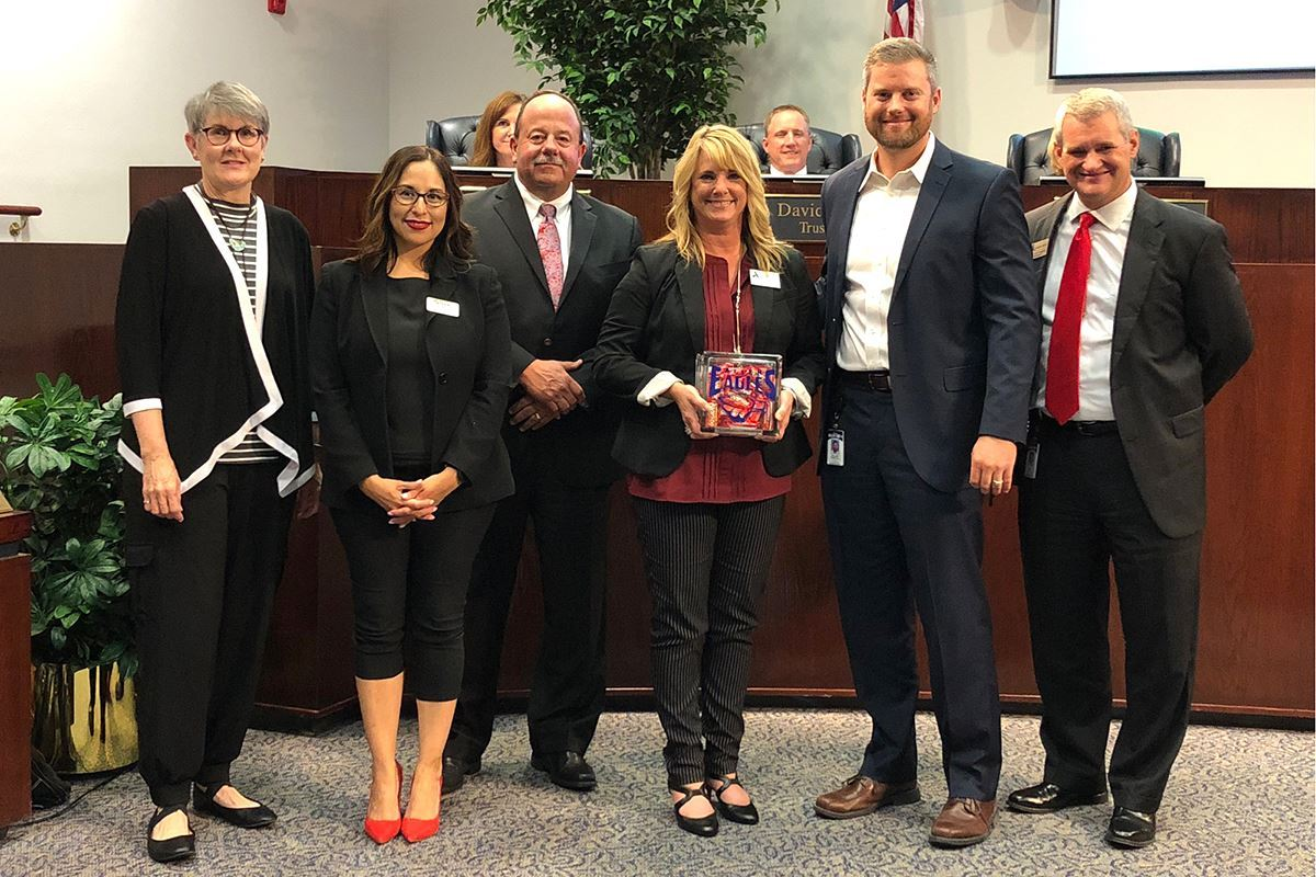 Board Recognizes Transportation Employee of the Month Michelle Leasure