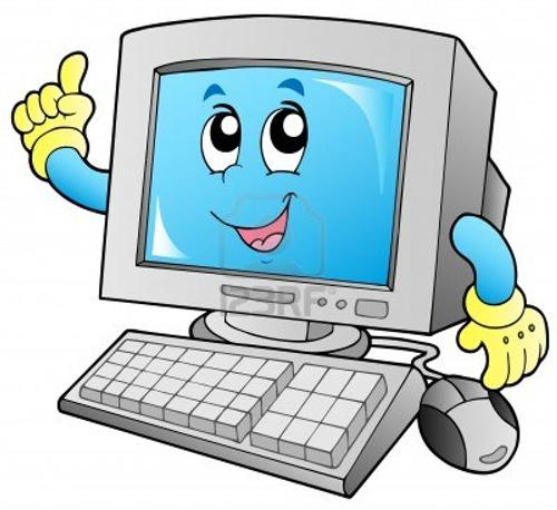 Illustration of an anthropomorphic computer