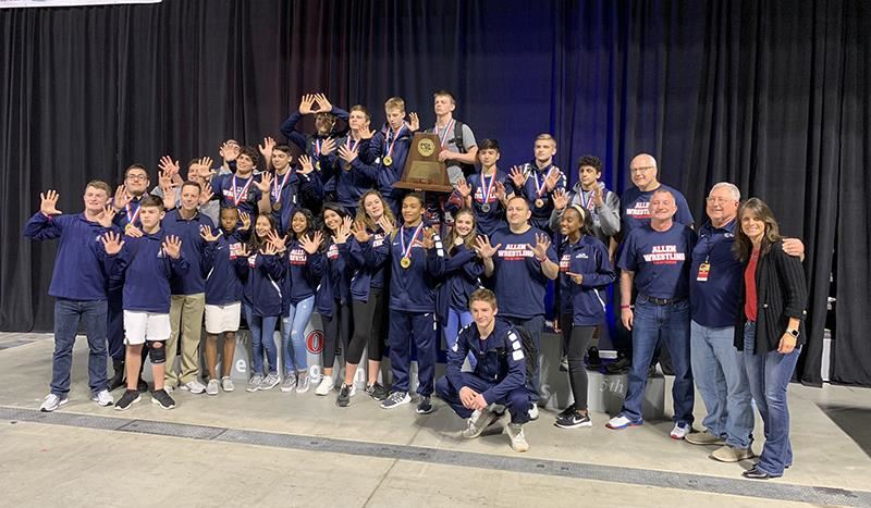 Allen Wrestlers Win Tenth State Title