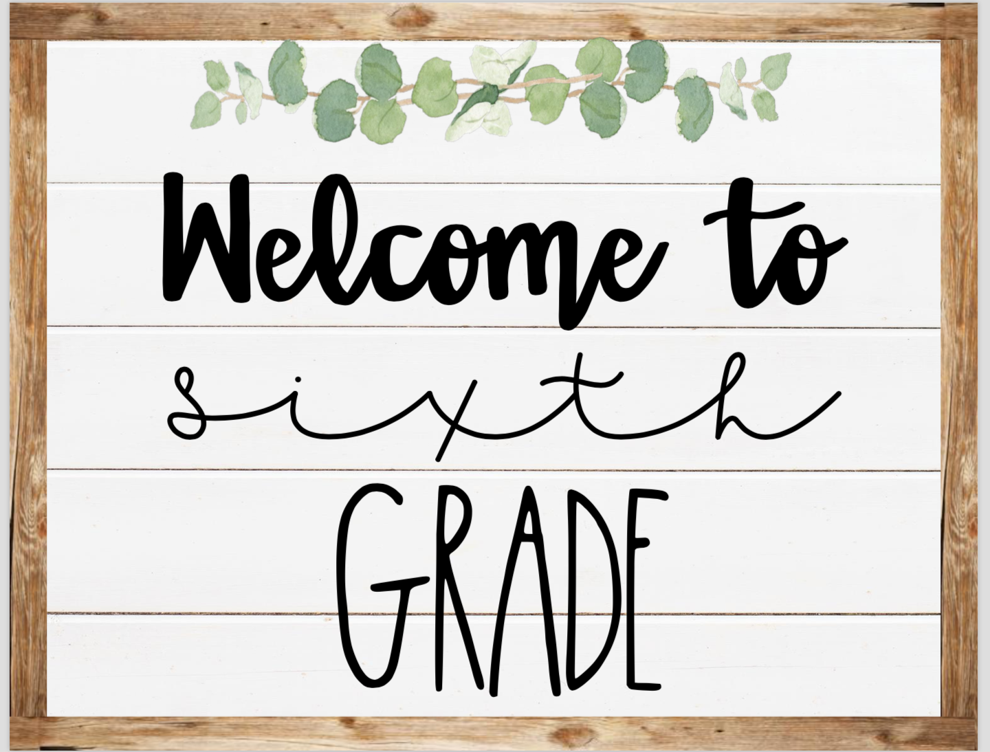 MATHEWS, SHELBY - 6th Grade / Welcome