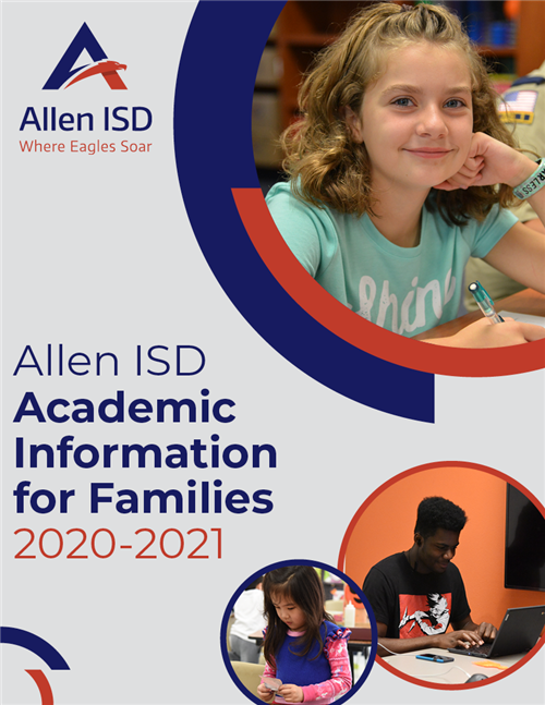 Cover page for the Academic Information for Families document