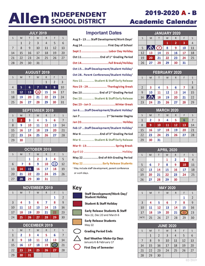 Frisco Isd Calendar 2020-21 Academic School Year Calendar / 2019 2020 Academic School Calendar