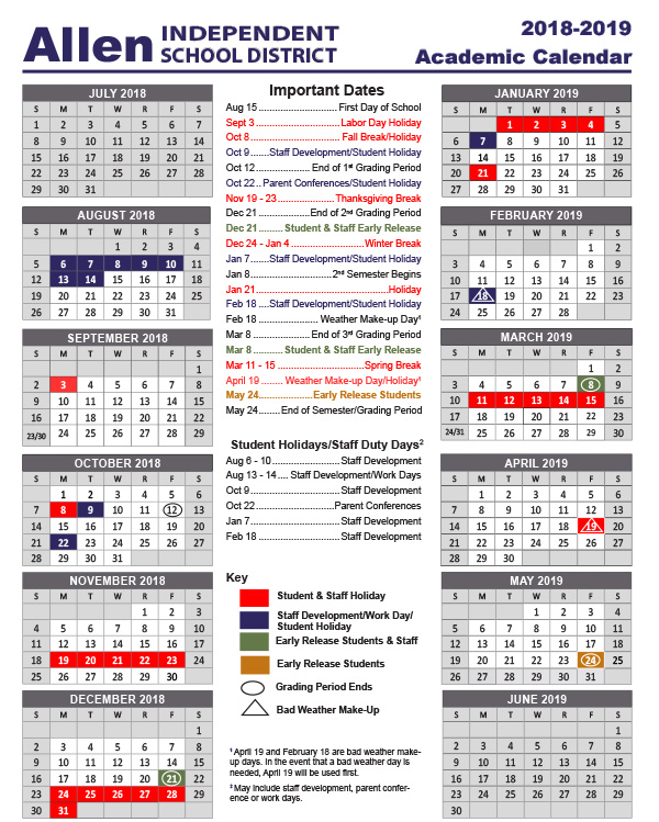 school year calendars 2018 2019 academic calendar small calendar art