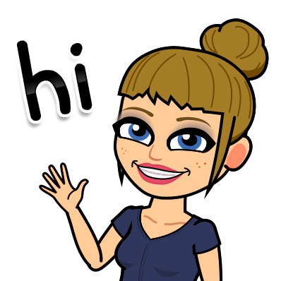 "Bitmoji of Mrs. Sims saying ""hi""."