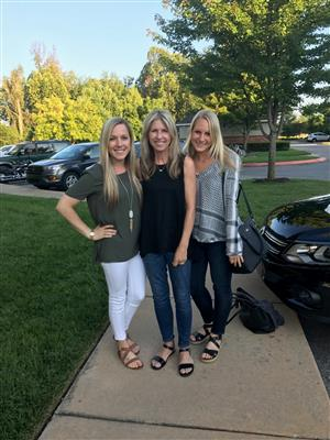 Mrs. Becker with daughters