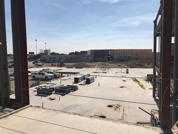 a look at the new lowery center construction    october 24