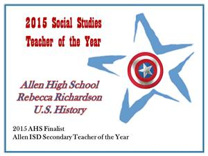 2015 Social Studies Teacher of the Year