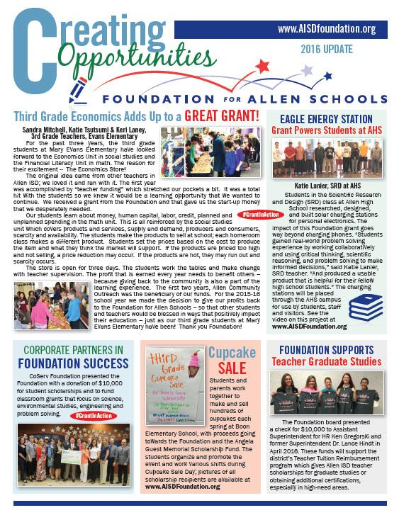2016 Foundation Newsletter